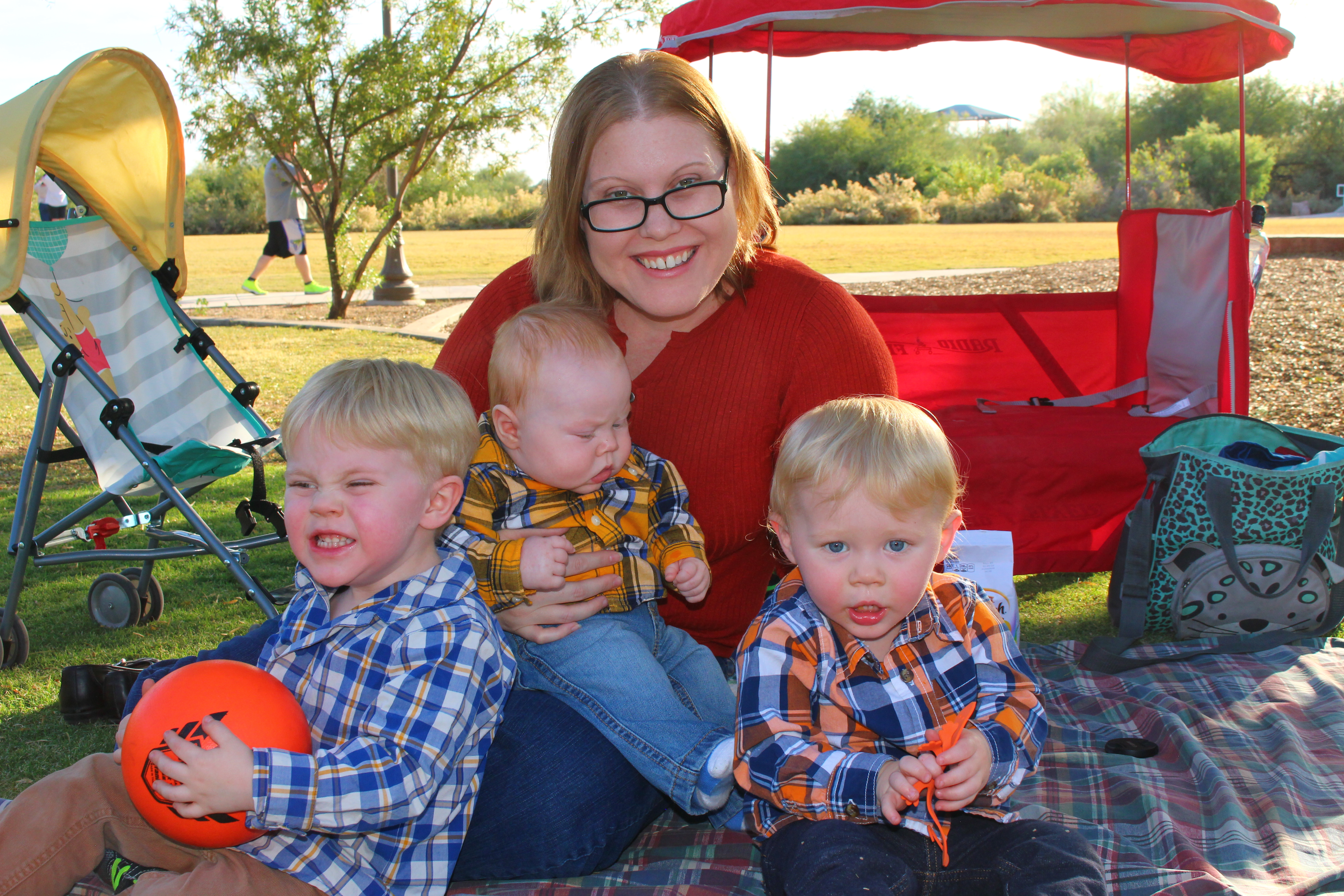 Jacquelyn, owner of A Heavenly Home, and her three boys.